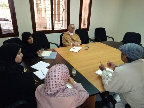 ضور السيد عبد الله القصطلاني نائب رئيس جماعة تيزنيت في افتتاح فعاليات المعرض الاقليمي للصناعة التقليدية بتيزنيت