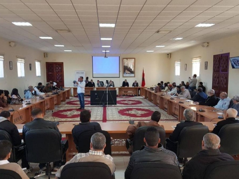 عقد اجتماع مساء اليوم الثلاثاء 11 فبراير بقاعة الاجتماعات بجماعة بتيزنيت برئاسة نائب رئيس الجماعة عبد الله القسطلاني
