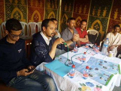 جمعية مستقبل الحرفيين بشراكة مع ساكنة شارع القيروان و بدعم من جماعة تيزنيت تنظم حملة للنظافة