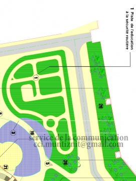 إحداث الحلبة المصغرة للتربية على السلامة الطرقية بمدينة تيزنيت
