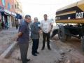 السيد رئيس الجماعة يتفقد تقدم أشغال مشروع قناة تصريف مياه الأمطار