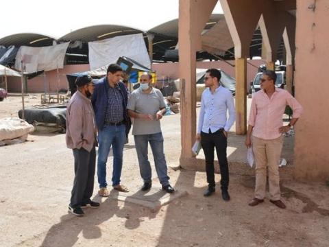 اشرف السيد عبد الله جوراغ نائب رئيس جماعة تيزنيت على اعطاء انطلاقة اشغال تهيئة سوق الخميس