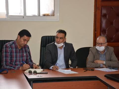 عقدت لجنة الشؤون الثقافية والرياضية والتربية والشباب برئاسة السيد ابراهيم اد لقاضي رئيس اللجنة