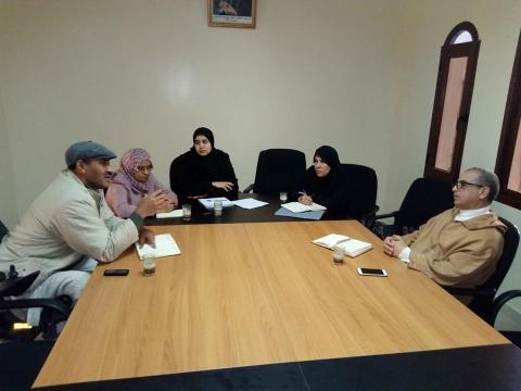 اجتماع مع جمعية بلسم لكفالة اليتيم وجمعية تحدي الاعاقة